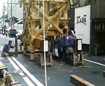 菊水鉾解体作業2