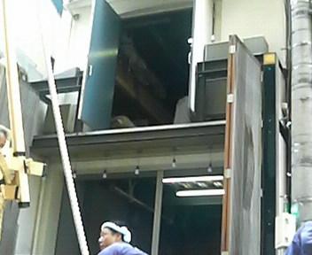 菊水鉾解体作業