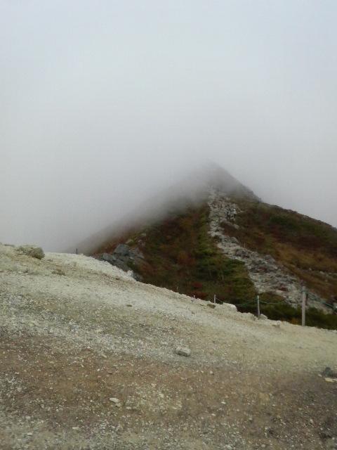 唐松岳への稜線