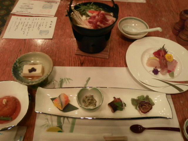 ホテルオニコウベ 夕食 和食